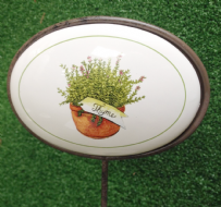 Thyme Vegetable Patch Ceramic Herb Plant Marker
